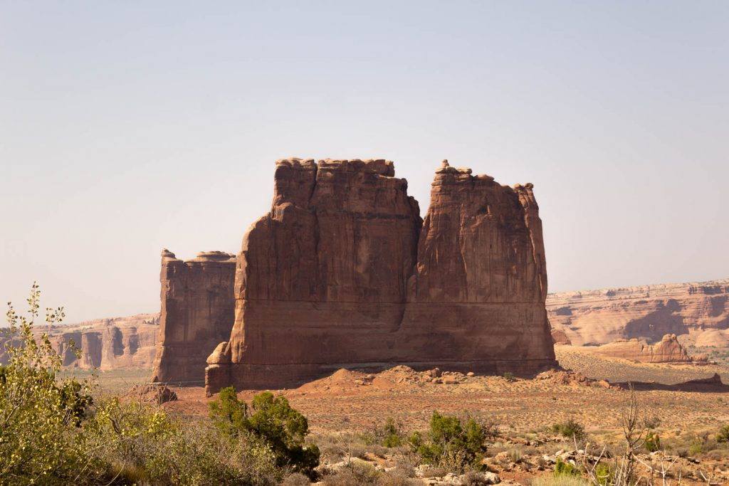 red rocks at Arches national park