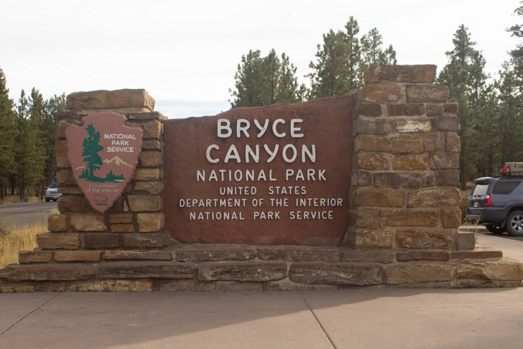 sign of Bryce Canyon National Park entrance