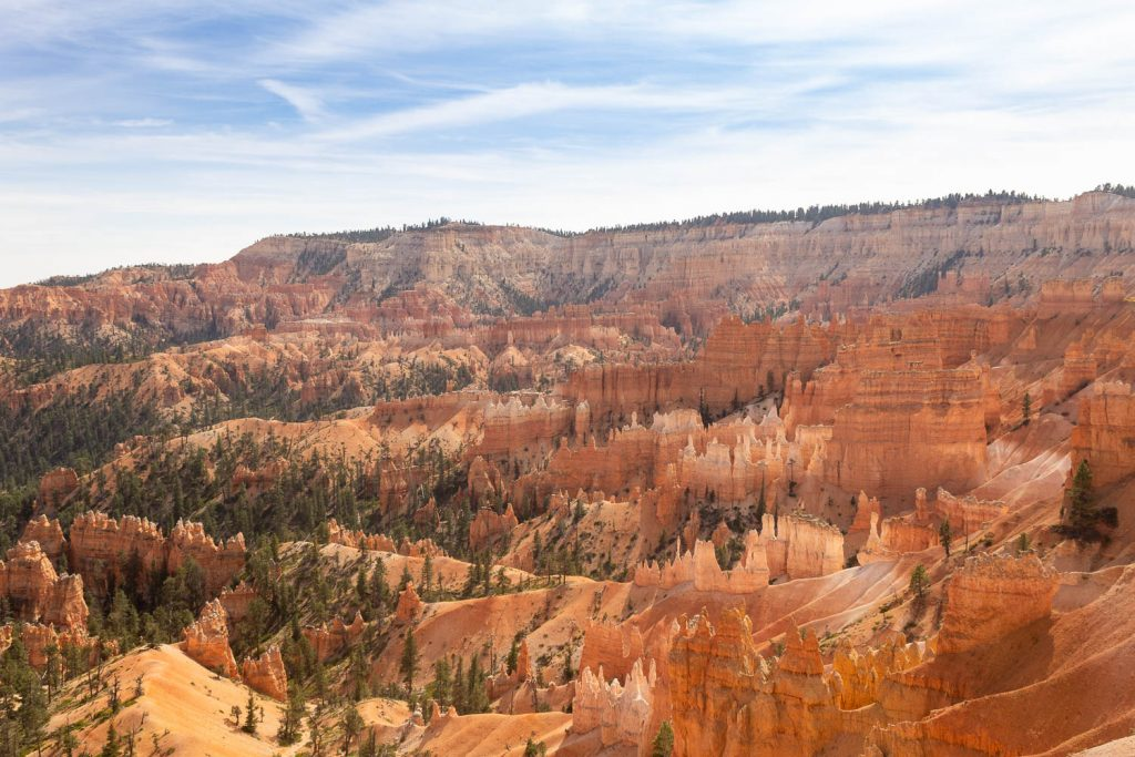 View of Bryce Amphitheater from Sunrise Point at Bryce Canyon National Park