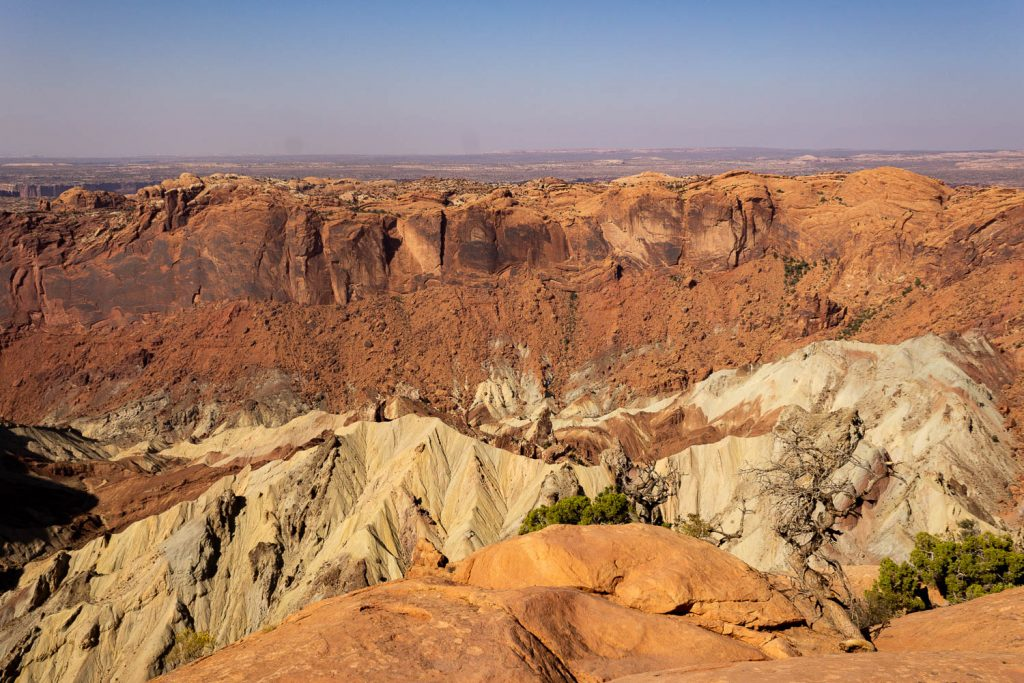 up close view of Upheaval Dome at Canyonlands National Park