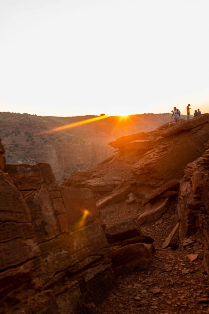 Sunset at Sunset Point, Capitol Reef National Park
